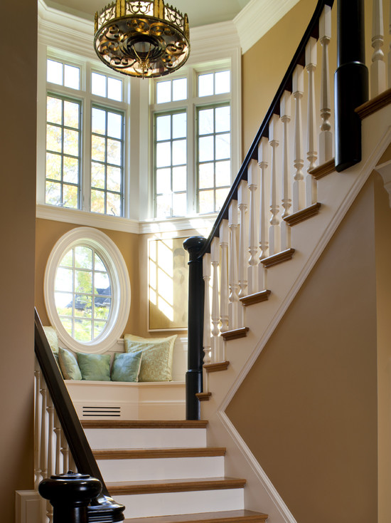 Shingle Style Stair Tower And Bench (Boston)