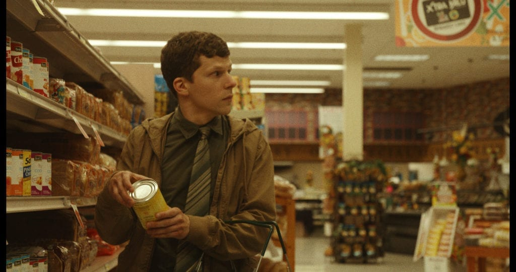 The Art of Self-Defense starring Jesse Eisenberg as Casey, Alessandro Nivola and, Imogen Poots. Just one of many new releases from 2019's film festivals.