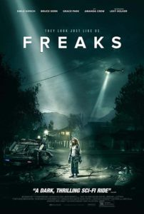 Freaks 2019 Poster. Movie review.