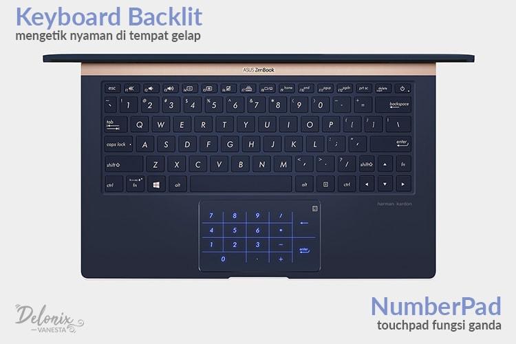 Asus ZenBook UX333FN - NumberPad