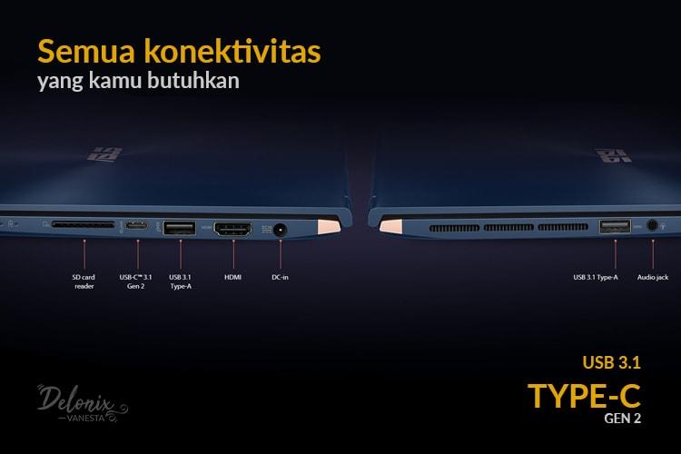 Asus ZenBook UX533 - Konektivitas masa kini