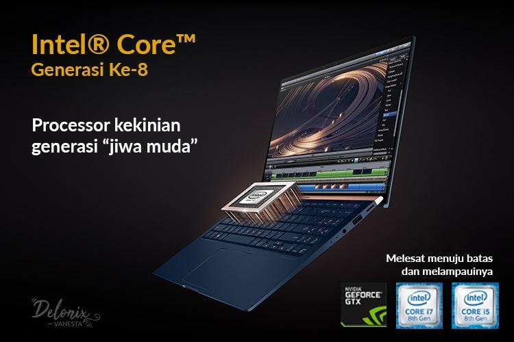 Asus ZenBook UX533 dengan Intel® Core™ Generasi Ke-8