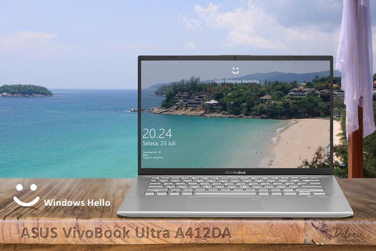 ASUS VivoBook Ultra A412DA - Windows Hello