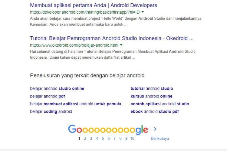 Memilih Niche Blog - Saran Kata Kunci oleh Mesin Pencari Google