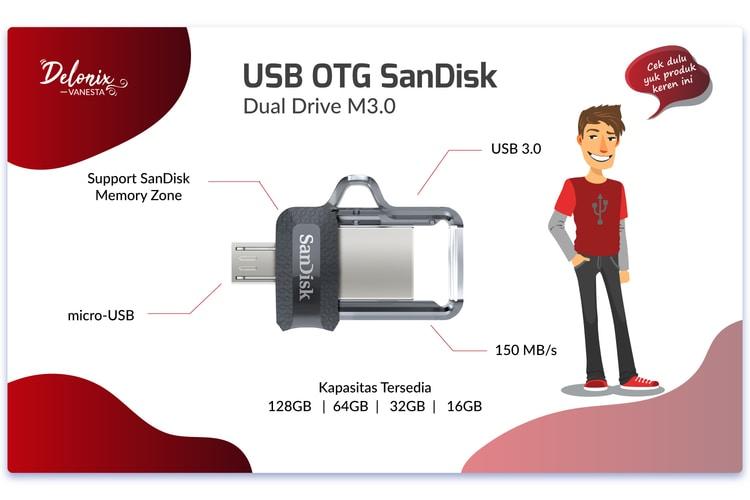 Spesifikasi USB OTG SanDisk Dual Drive M3.0