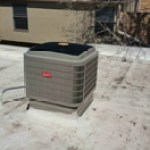 Residential AC Condenser Unit on Roof