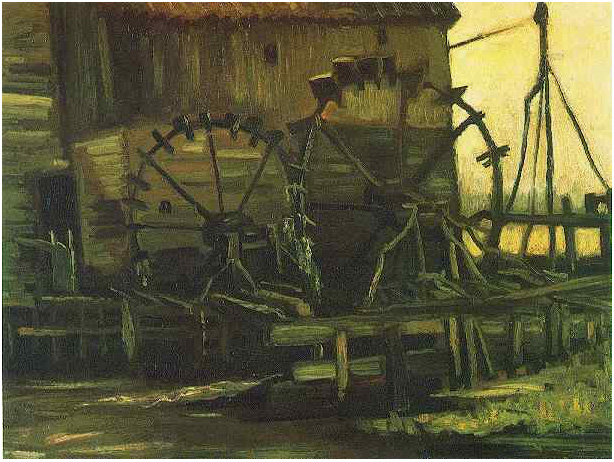 Water Mill At Gennep By Vincent Van Gogh 725 Painting