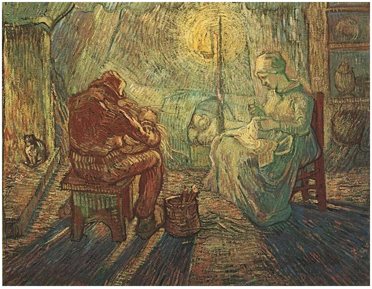 Evening The Watch After Millet By Vincent Van Gogh 117