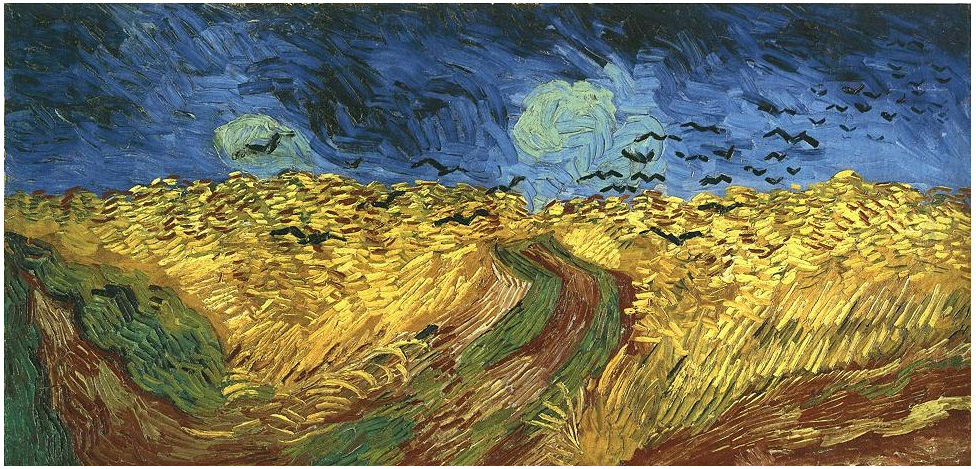 Vincent van Gogh's Wheat Field with Crows Painting