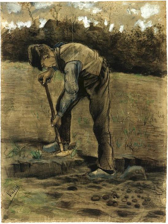 Digger By Vincent Van Gogh 1811 Watercolor