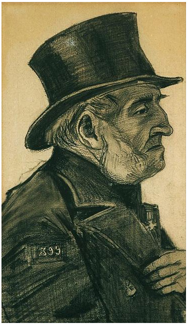Orphan Man With Top Hat By Vincent Van Gogh 1229 Drawing