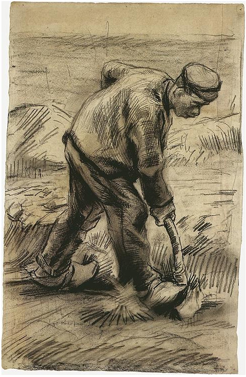 Digger By Vincent Van Gogh 877 Drawing