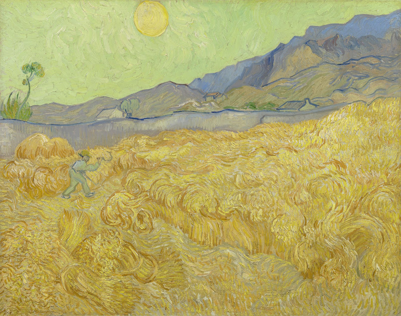 Wheatfield With A Reaper Van Gogh Museum