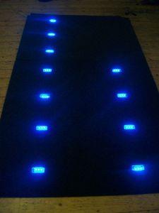 Custom headlining blue LED