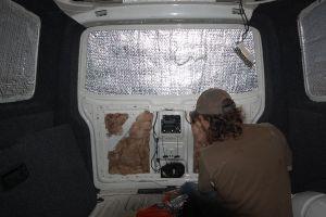 Insulating the rear door