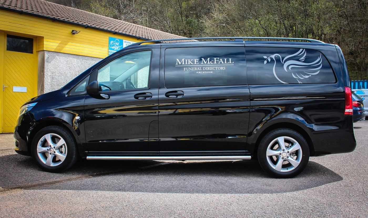 Mercedes Vito LWB fitted with privacy tint windows