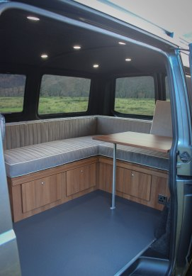 Camper furniture and sliding table
