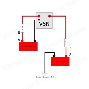Durite 12v Intelligent Split Relay wiring diagram