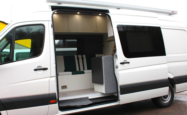 vw Crafter Campervan with fiamma awning