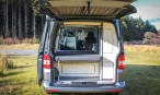 VW T5 Campervan Conversion Highline fitted with SCA 190Comfort Pop top roof front elevating also installed Furniture with RIB bed and blackout curtians