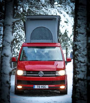 Vw T6 fitted with a SCA Elevating Roof