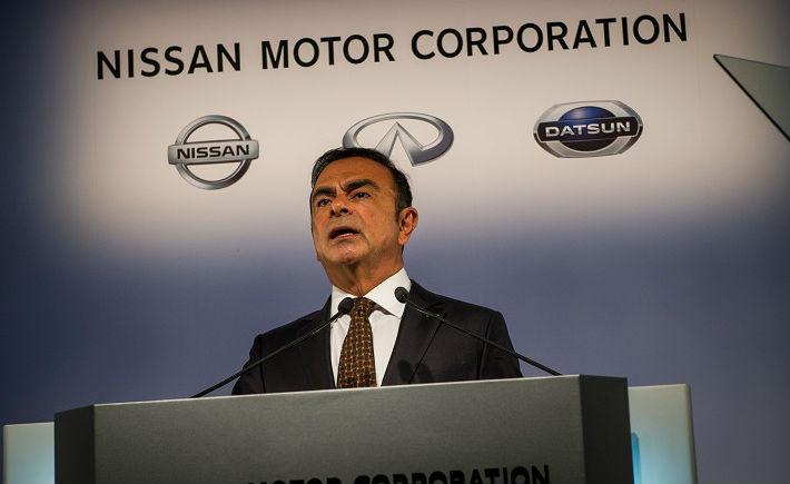 Carlos Ghosn, CEO de Nissan, presentó los resultados financieros 2013 de la armadora. (Foto: Nissan).