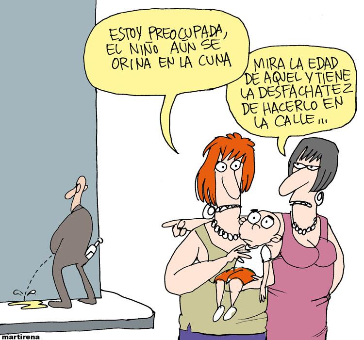 Desfachatez, caricatura de Alfredo Lorenzo Martirena Hernández (Martirena) sobre indisciplinas sociales.