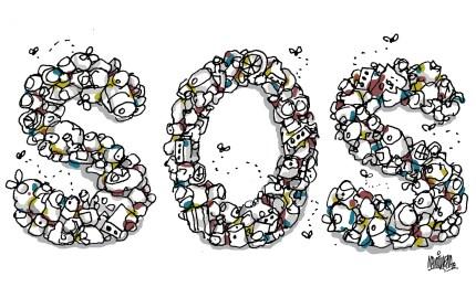 Ilustración de Martirena sobre la basura