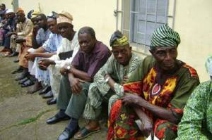 File Photo: Aged Pensioners waiting for their entitlement