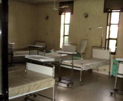 An empty ward in a Lagos owned hospital due to the strike by the medical doctors