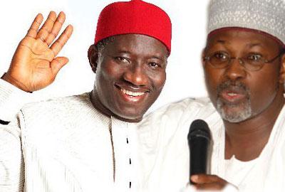 President Goodluck Jonathan and Prof Attahiru Jega
