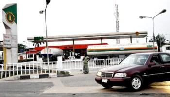 CLOSED: The NNPC Mega filling station at Rainbow Bus Stop, Apapa-Oshodi Expressway, Lagos closed for business yesterday. Photo: Bunmi Azeez.