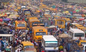 Molue buses at Bolade Oshodi...before the advent of BRT and LAG buses in 2009