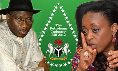 President Jonathan and Petroleum Minister, Diezani