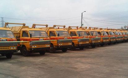 New LAWMA trucks...women drive some of them