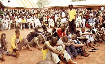 *Suspected cultists paraded in the community