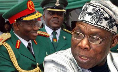 President Jonathan and Gen. Obasanjo (Rtd)