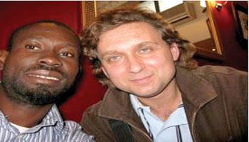 *Emeka with FIFA Agent SLAWINSKI Tomasz in London
