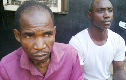 Suspected rapists, Segun Otaru and Pastor Fidelis Eze