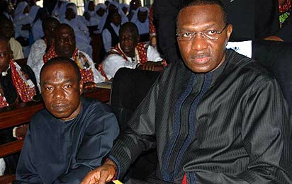 R-L Sen Andy Uba and Chris Uba