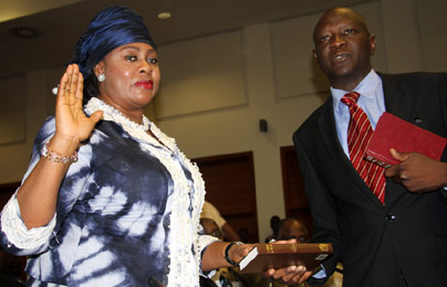 Stella Oduah at the House of Reps hearing..
