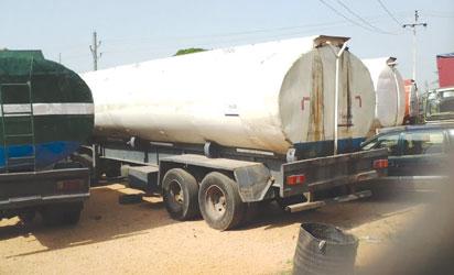 Seized fuel trucks