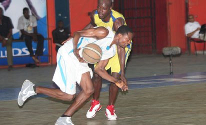 Action from DStv Basketball league.