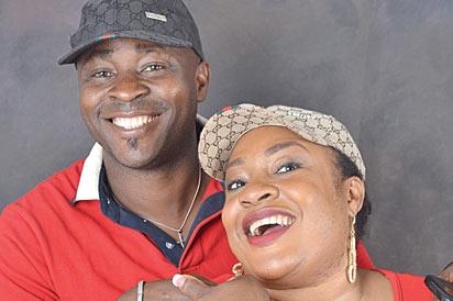 *Foluke Daramola with hubby, Kayode Salako