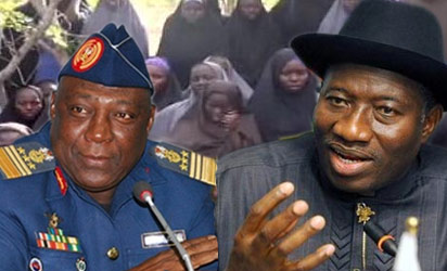 Chief of Defence Staff, Air Chief Marshal Alex Badeh and President Jonathan