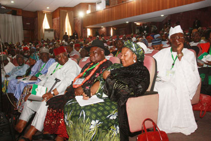 Delegates at the National Conference in Abuja