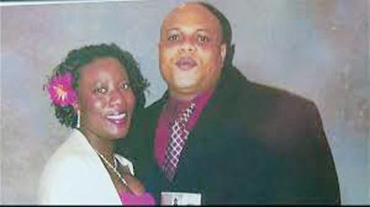 Victim of the deadly Ebola virus disease, Patrick Sawyer wth wife, Decontee