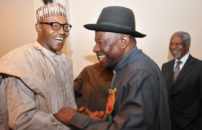 *Jonathan and Buhari