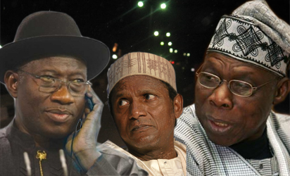 Jonathan, Yardadua and Obasanjo