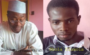 Boy, Shola Olusola Warah, 21 claims  Honourable Sulyman Warah is his father but Mr. Warah says he is not his son.